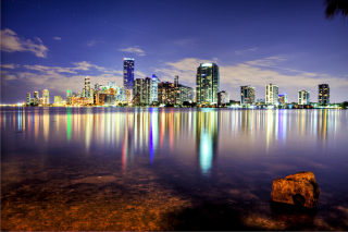 Miami, Florida Houses Background for Android, iPhone and iPad