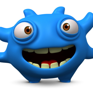 Cute Blue Cartoon Monster - Obrázkek zdarma pro iPad mini