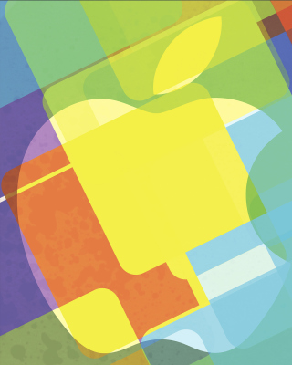 Macbook Logo - Obrázkek zdarma pro iPhone 4S
