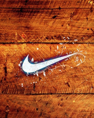 Wooden Nike Logo - Obrázkek zdarma pro 480x800
