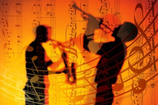 Jazz Duet Wallpaper for Android, iPhone and iPad