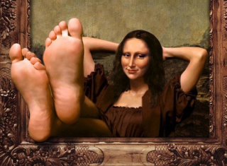 Art Parodies - Mona Lisa Background for Android, iPhone and iPad