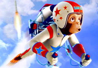 Free Space chimps Picture for Android, iPhone and iPad