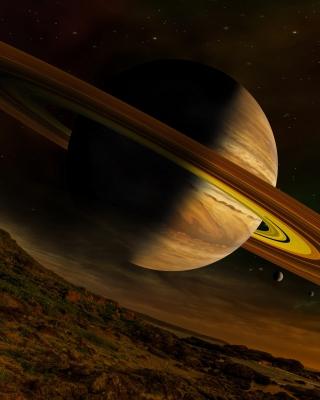 Planet Saturn - Obrázkek zdarma pro 132x176