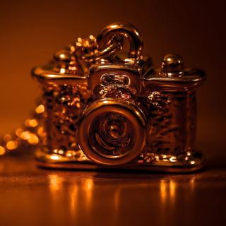 Vintage Golden Camera - Obrázkek zdarma pro iPad 3
