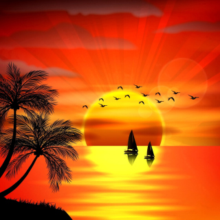 Beautiful Sunset - Obrázkek zdarma pro iPad 3