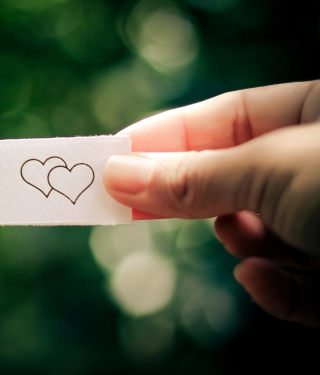 Two Drawn Hearts - Obrázkek zdarma pro 352x416