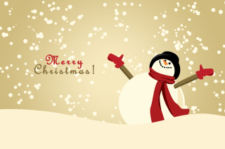 Merry Christmas Wishes from Snowman Background for Android, iPhone and iPad