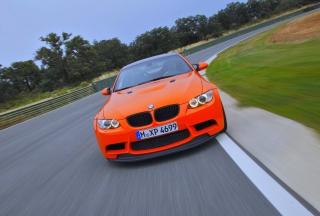 Orange BMW Background for Android, iPhone and iPad