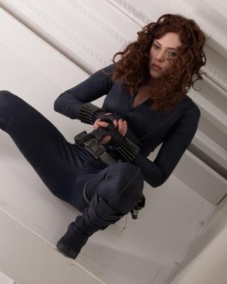 Scarlett Johansson as Black Widow - Obrázkek zdarma pro 240x320
