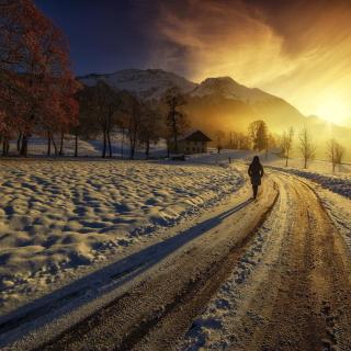 Winter Sunrise - Obrázkek zdarma pro 1024x1024