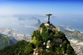 Christ Statue In Rio De Janeiro Background for Android, iPhone and iPad