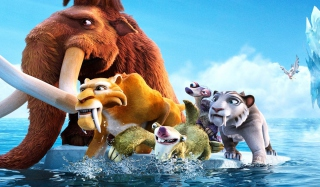 Ice Age Cartoon Background for Android, iPhone and iPad