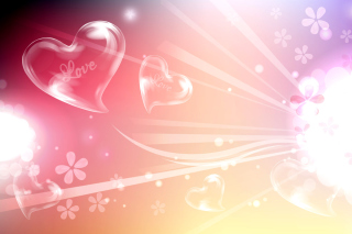 Flying Hearts Picture for Android, iPhone and iPad