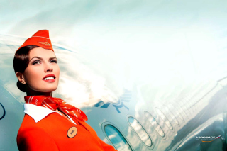 Aeroflot Russian Girl Background for Android, iPhone and iPad