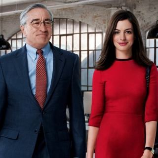 The Intern, Robert De Niro and Anne Hathaway - Obrázkek zdarma pro iPad Air