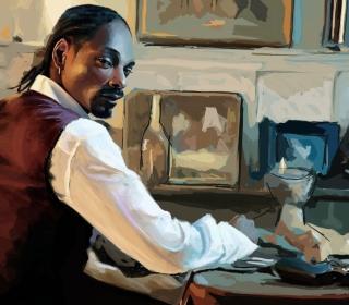 Snoop Dog Portrait Painting - Obrázkek zdarma pro iPad 3