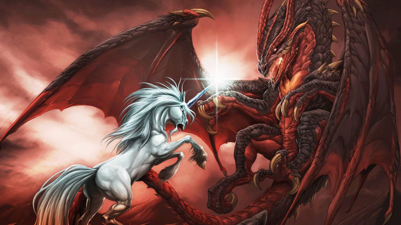 Обои рабочего стола дракон 1366 768