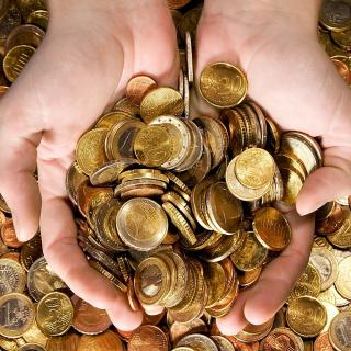 Euro cent coins - Obrázkek zdarma pro iPad