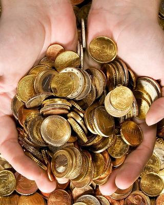 Euro cent coins - Obrázkek zdarma pro 240x432