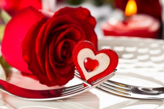 Free Heart On Fork Picture for Android, iPhone and iPad