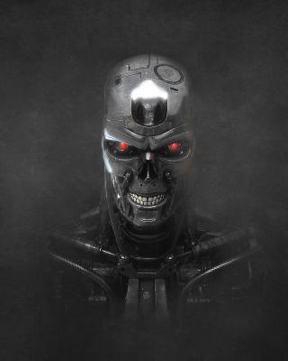 Terminator Endoskull - Obrázkek zdarma pro 128x160