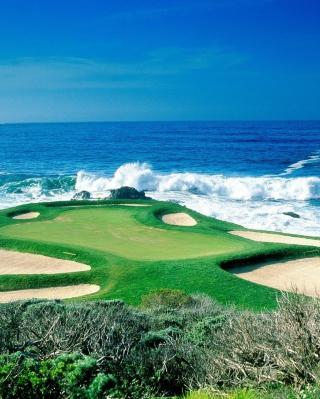 Golf Field By Sea - Obrázkek zdarma pro Nokia Lumia 920