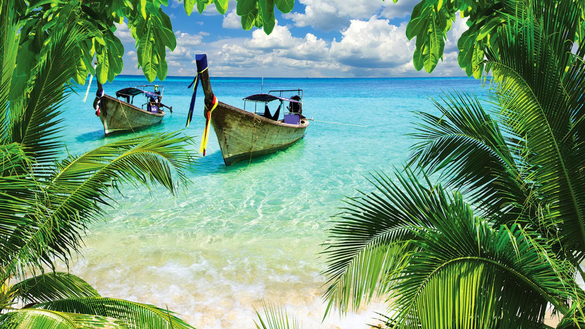 Tropical beach in curacao wallpaper for 1920x1080 for Foto full hd per desktop
