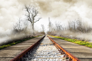 Free Autumn Railway Picture for Android, iPhone and iPad