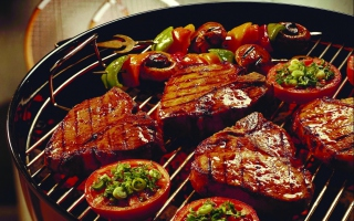 Delicious Grill Background for Android, iPhone and iPad