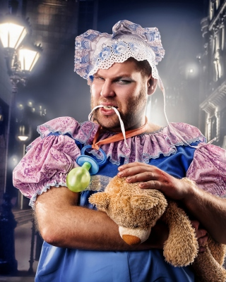 Cook with teddy bear - Obrázkek zdarma pro Nokia Asha 306