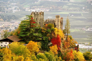 Brunnenburg Castle in South Tyrol Wallpaper for Android, iPhone and iPad