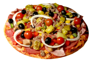Free Paper Pizza Picture for Android, iPhone and iPad