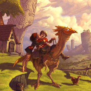 Dragon Riders - Obrázkek zdarma pro 1024x1024