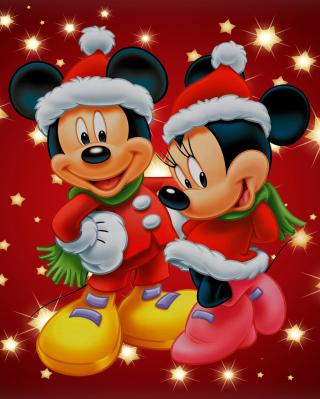 Mickey And Mini Mouse Christmas Time - Obrázkek zdarma pro Nokia X3