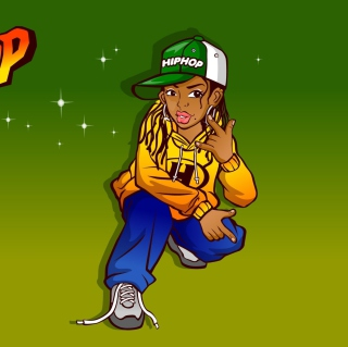 Hiphop Street Dancing Girl - Obrázkek zdarma pro iPad mini 2