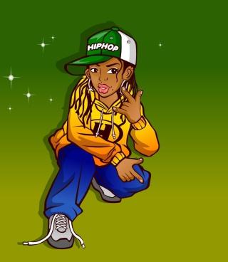 Hiphop Street Dancing Girl - Obrázkek zdarma pro 480x854