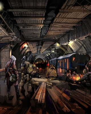 Metro 2034 Novel - Obrázkek zdarma pro 352x416