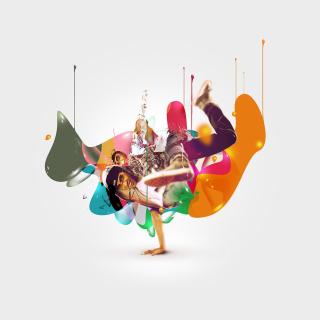 Breakdance Drips - Obrázkek zdarma pro 1024x1024