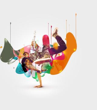 Breakdance Drips - Obrázkek zdarma pro Nokia Asha 303