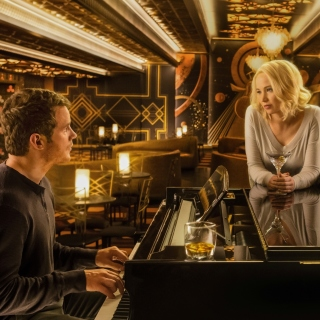 Jennifer Lawrence and Chris Pratt in Passengers Film - Obrázkek zdarma pro iPad mini 2