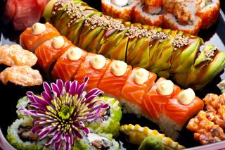 Seafood Salmon Sushi - Obrázkek zdarma pro HTC Wildfire
