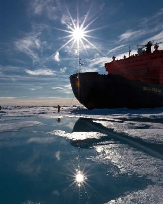 Icebreaker in Greenland - Obrázkek zdarma pro Nokia X7