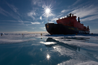 Icebreaker in Greenland Wallpaper for Android, iPhone and iPad