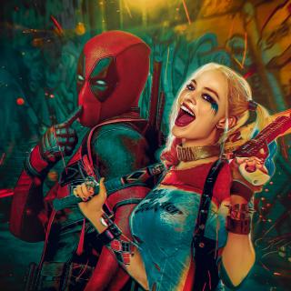 Deadpool, Ryan Reynolds, Wade Wilson, Harley Quinn - Obrázkek zdarma pro iPad 3