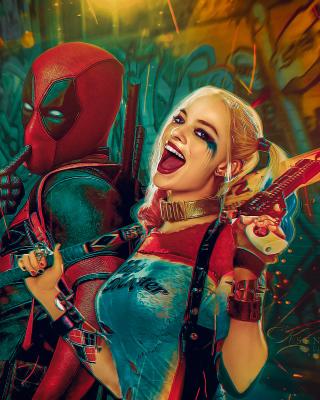 Deadpool, Ryan Reynolds, Wade Wilson, Harley Quinn - Obrázkek zdarma pro 640x1136