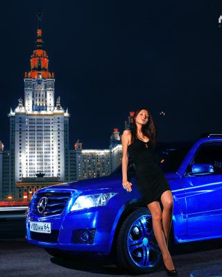 Need For Speed Most Wanted - Blue Mercedes - Obrázkek zdarma pro Nokia C6-01