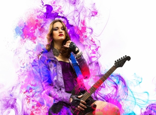 Music Girl - Obrázkek zdarma pro Samsung Galaxy Q