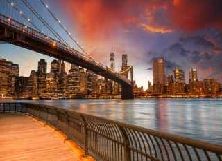 NYC - Brooklyn Bridge Picture for Android, iPhone and iPad