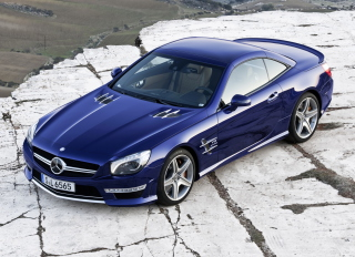 Free Mercedes SL 65 AMG V12 Biturbo Picture for Android, iPhone and iPad